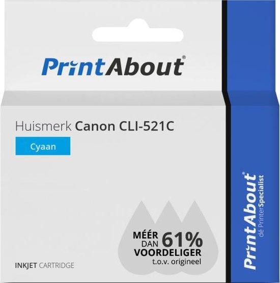 Huismerk Canon CLI-521C Inktcartridge Cyaan