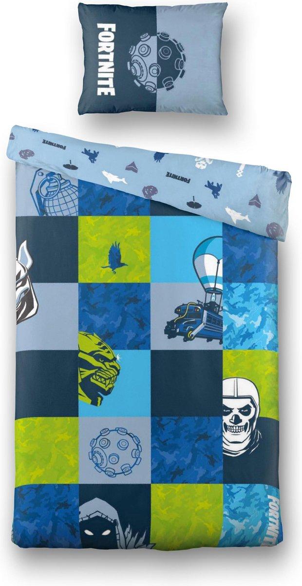 Fortnite Bluepatch Dekbedovertrek - 140x200cm - Eenpersoons - Blauw