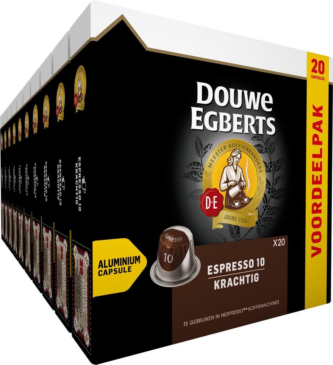 Douwe Egberts Espresso Krachtig Koffiecups - 10 x 20 cups - voordeelpak - 200 koffiecups