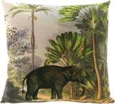Unique Living sierkussen Exotic - Olifant - 45x45cm - dessin 2