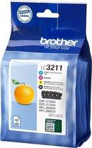 Brother LC-3211VAL inktcartridge Origineel Zwart,