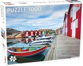 Puzzel Around the World Northern Stars: Fishing huts in Smögen - 1000 stukjes