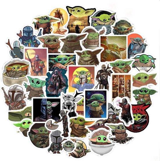 Baby Yoda sticker mix - 50 verschillende stickers voor laptop, muur, agenda etc.