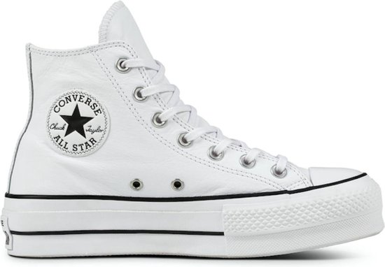 Converse All Stars Hoog Lift Clean Leather 561676C Wit 42