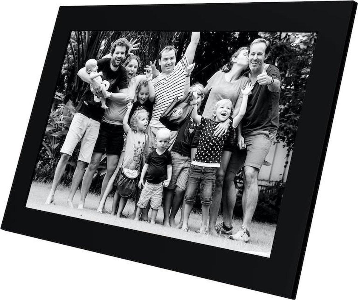Kiki&Co digitale fotolijst Zwart met 10.1 inch HD scherm, WiFi, en Frameo app