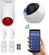 Draadloos alarmsysteem voor woning met camera en WiFi verbinding - Beveiligingssysteem zonder abonnement - Plus pakket