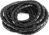 Pro-Install Spiraalband. Zwart. 12mm. SRPE-12-0. Bereik 11-55mm. 10 meter per verpakking. (099.6103)