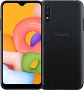 Samsung Galaxy A01 2020 | Dual-Camera | Dual-Sim | Zwart|SD Card 16GB + Hoesje + Beschermglass + Nederlandse Sim card