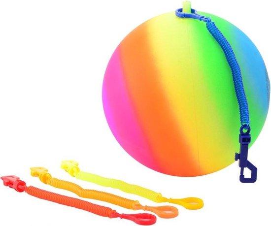 Regenboogbal Met Koord Maat 5