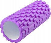 Fitness Foam Roller - Yoga Workout Roll - Pilates / Body Rug Triggerpoint Massage Rol The Grid Roller - 34CM Paars