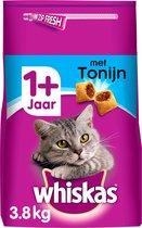 Whiskas 1+ Adult Droge Brokjes - Tonijn - Kattenvoer - 3,8 kg
