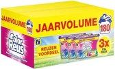 Color reus pods 180 stuks   Gekleurde was   180 wasbeurten   Voordeelverpakking   Jaarvolume