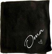 Plaid Oma - fleeceplaid oma - fleece deken oma - 150x120cm
