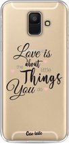 Samsung Galaxy A6 (2018) hoesje Love is about Casetastic Smartphone Hoesje softcover case