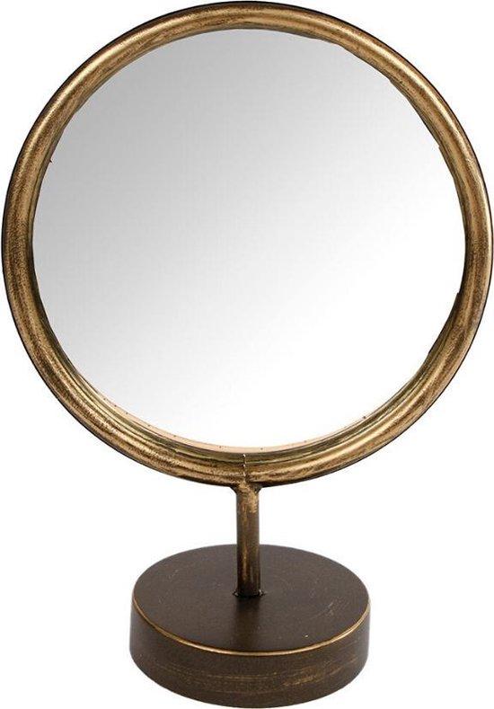 Dulaire Kleine Staande Spiegel Rond Goud