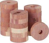 relaxdays cederhout tegen motten - motten bestrijden - 20 anti mot ringen - kledingkast