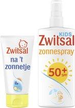 Zwitsal Voor en Na 't zonnetje 0% parfum - Zonnespray 200 ml + Aftersun 150 ml - Zonnepakket