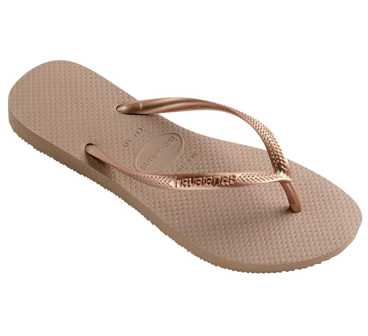 Havaianas Slim Dames Slippers - Rose Gold - Maat 41/42