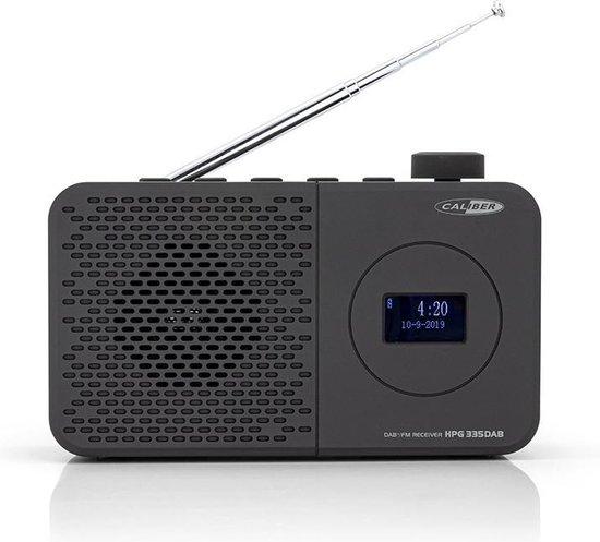 Caliber HPG335DAB - Draagbare DAB radio met accu - Zwart