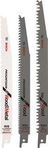 Bosch Reciprozaagbladen set - 3 stuks - Universeel