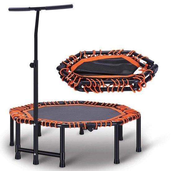 RS Sports Opvouwbare Fitness Trampoline l volledig zwart - ook de elastieken