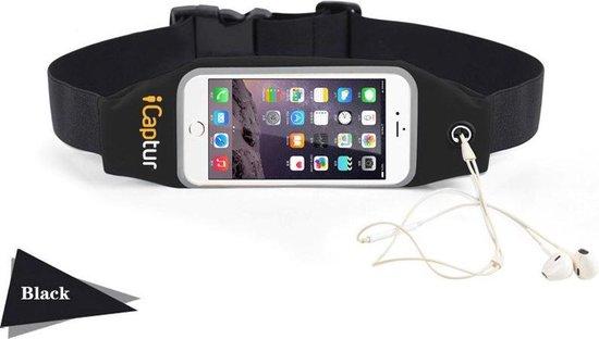 iCaptur Running / Fitness Belt Sports Heuptas Waist Band Waterproof Running geschikt voor elke Smartphone: Iphone, Samsung