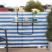 SOSI Inklapbaar balkontafel - balkon tafel hangen - smart - modern - klaptafel balkon- tafel voor balkon - balcony table - KLEUR ZWART