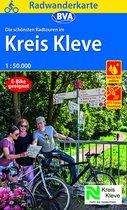 Radwanderkarte BVA schönsten Radtouren/Kreis Kleve 1:50.000