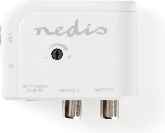 Nedis 15 dB CAI antenneversterker met 2 uitgangen / wit
