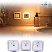 LED Nachtlampje Stopcontact - 3 Stuks - Warm wit - Baby kamer - Verlichting - Nachtlamp  - Kinderen & Baby - Woonkamer Verlichting - Lampen