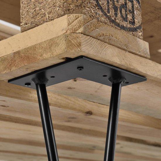 Hairpin poten tafelpoten 2-punt set van 4 - 15 cm - zwart - en.casa