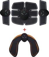 EMS Complete Buikspieren Trainer Set Met Billentrainer | Elektrische Buiktrainer | Sixpack AB Trainer | Billen Trainer | Billen Workout | Heup Trainer | EMS Trainer | Hips Trainer | Benen Trainer | Tril Apparaat | Full Body Workout | 4-in-1 Set
