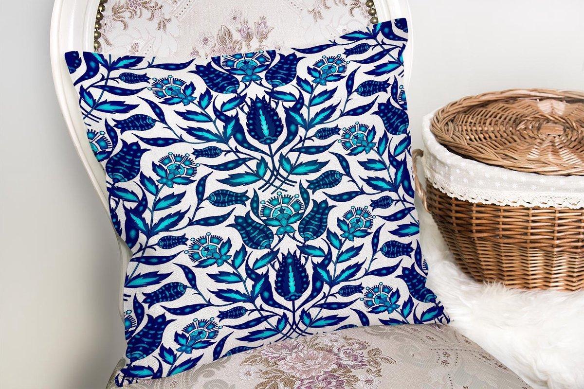 Zijou Decoratieve Woonkamer Sierkussen Blauwe Bloemen Afmeting Kussens Woonkamer Binnen Of Buiten Decoratie Sierkussens 45x45cm Winkelen Nl