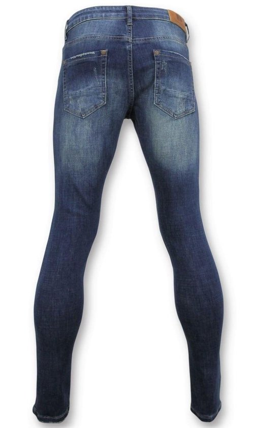 True Rise Skinny Basic Jeans - Man Spijkerbroek Washed D3021 Blauw Heren W28