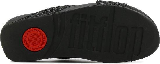 FitFlop Lulu Glitter Slide slippers zwart - Maat 42 NZ1C8Xp3