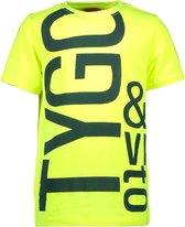 TYGO & vito Jongens T-shirt neon - shocking orange - Maat 122/128