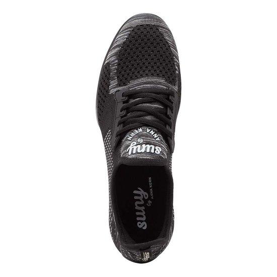 Dames Dans Sneaker met Splitzool Anna Kern Suny 110 Pureflex - Dansschoen Salsa, Stijldansen - Zwart/Grijs - Maat 36