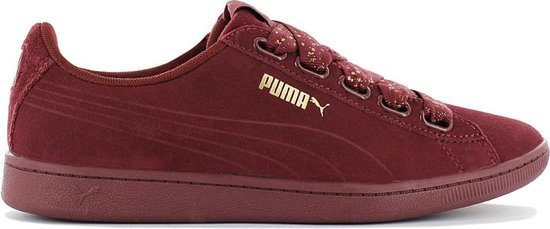 Puma Sneakers Vikky Ribbon Dots Suède Dames Rood Maat 36