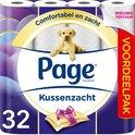 Page toiletpapier - Kussenzacht wc papier - 3-laags - voordeelverpakking - 32 rollen