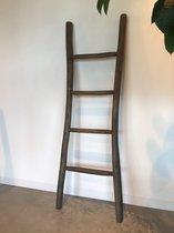 Bewonen Teun badkamer decoratie ladder teakhout 150cm