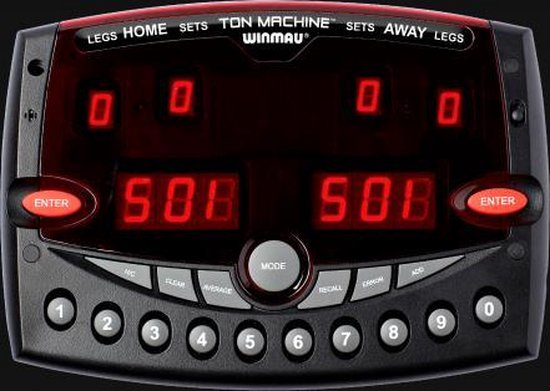 Winmau Ton Machine Professional Electronic Dart Scorer