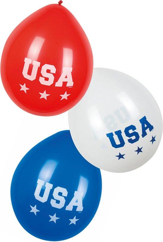 6 ballonnen USA - Feestdecoratievoorwerp