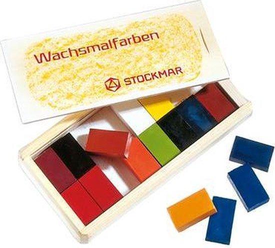 Afbeelding van het spel Stockmar wasblokjes ass. 16 kl. in houten kist