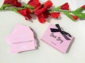 Chick Story Connect Box - Vragen - Vragen Spel - Gespreksstarters - Vriendinnen Cadeaus - Babyshower - Vrijgezellenfeest - Vrijgezellenfeest vrouw - Bachelorette Party - Vrouwen - Roze