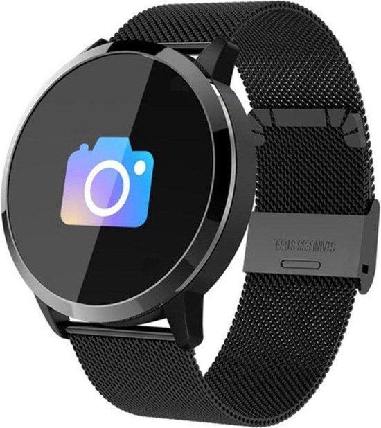 Smartwatch-Trends Q8 - Smartwatch - 24 mm - Zwart/Metaal