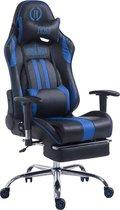 Clp Limit xl Racing Bureaustoel - Kunstleer - Zwart/blauw - Met voetsteun