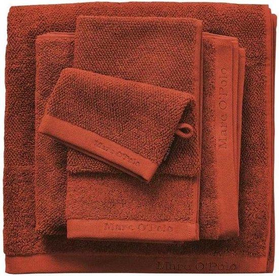 Marc O'Polo Timeless Tone Uni Burnt Orange-Handdoek (50 x 100 cm)