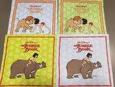 Zakdoeken The Jungle Book , 6 kinderzakdoeken Groen / Blauw