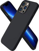 iPhone 13 Hoesje - Back Cover - iPhone 13 zwart matte TPU silicone case - matte coating - anti fingerprint - EPICMOBILE