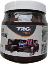 TRG - leather renovating balm - voor zetels, handtassen, jassen,... - donker bruin - 300 ml